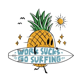 Food pineapple fruit love surf summer