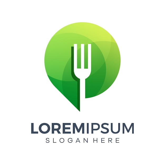 Food place icon logo templates