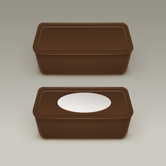 食品プラスチックボックスコンテナイラスト