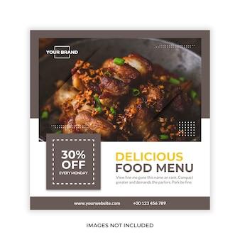 Food promotion social media post banner