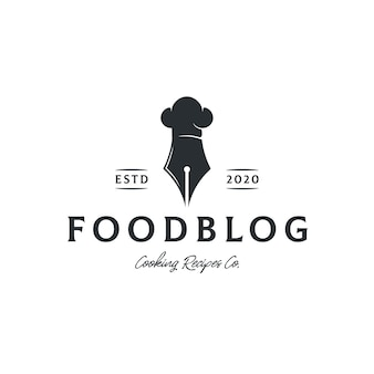Food recipes blog logo template