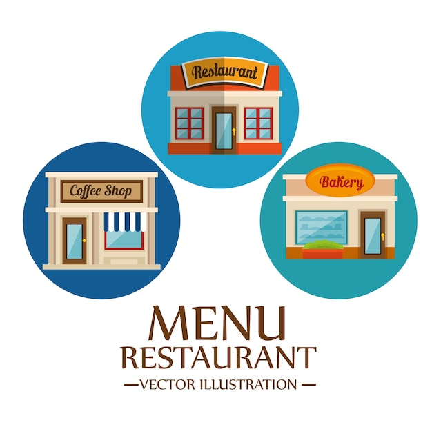 Food-related places icons