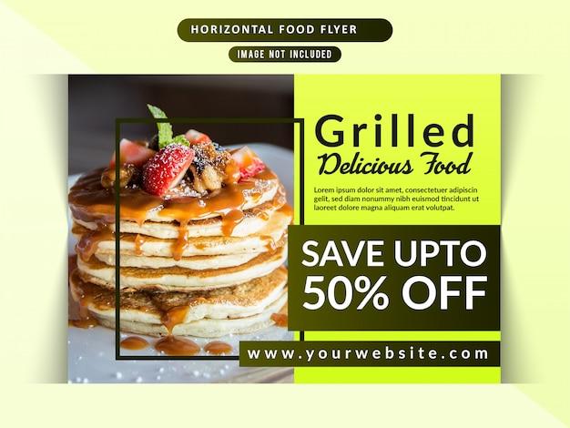 Food restaurant horizontal flyer