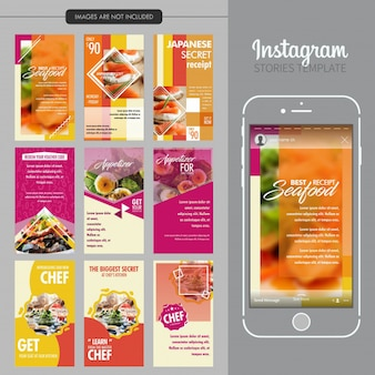 Food Restaurant Instagram Stories Template