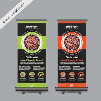 Дизайн баннера food roll up