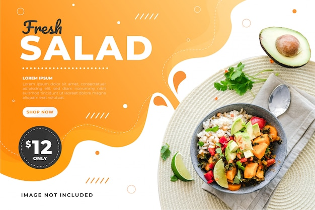 Food sale discount banner template promotion