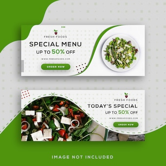Food sale facebook banners template