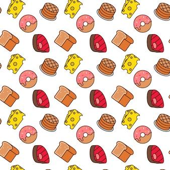 食品のシームレスなパターンデザイン