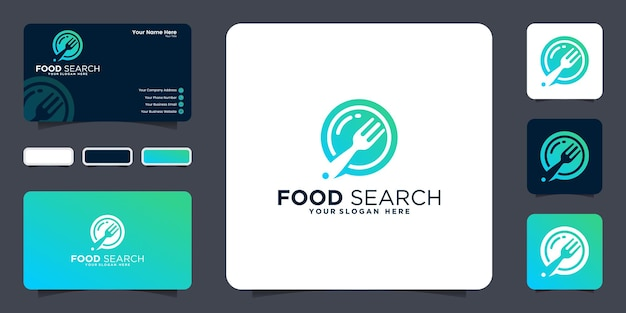 Food search logo design inspiration and business card inspiration