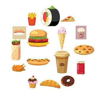 Food set icons