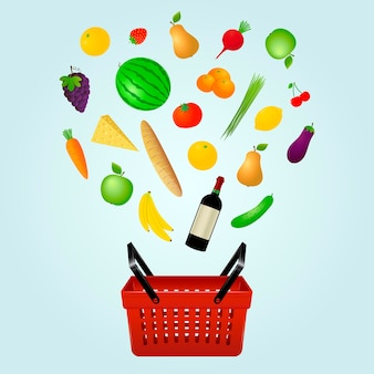 Food shopping concept