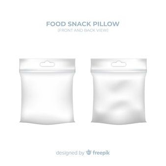 Food snack pillow background