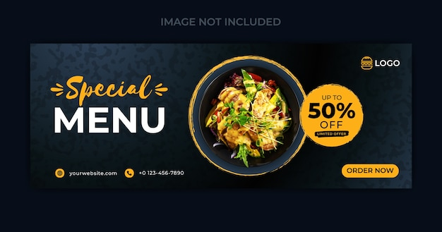 Food social media banner and social media cover template