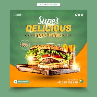 Food social media post design