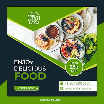 Food social media post template about new menu