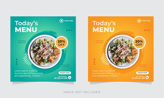 Продвижение еды в социальных сетях и шаблон оформления поста в instagram