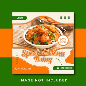 Food social media promotion and instagram banner post design