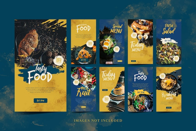 Food social media promotion and instagram story template