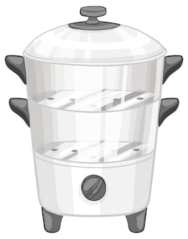 Food steamer isolated on white background