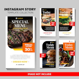 Food templates for instagram stories
