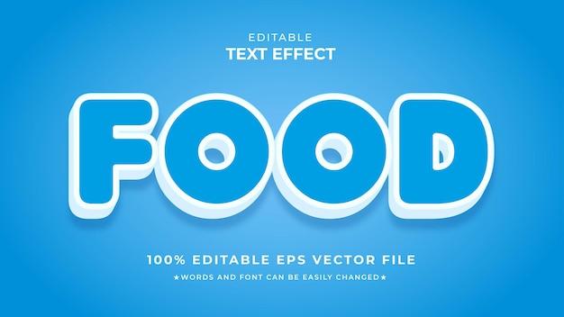 Редактируемый векторный файл eps с эффектом текста еды
