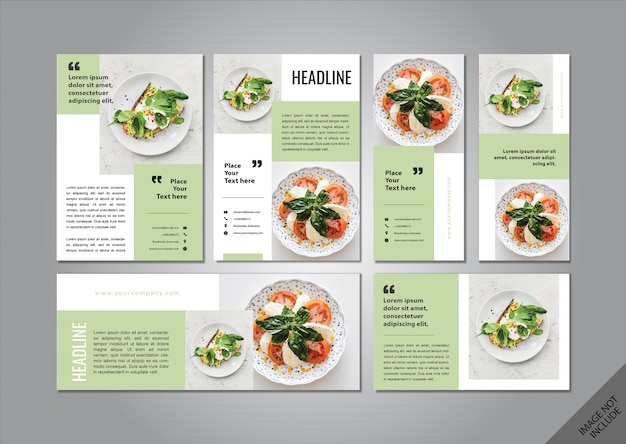 Food theme layout pack