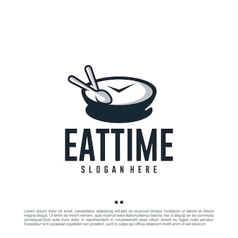 Время еды, время еды, вдохновение для дизайна логотипа