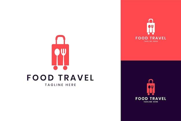 フードトラベルネガティブスペースのロゴデザイン