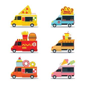 Продовольственный грузовик, автомобильный магазин быстрого питания или магазин