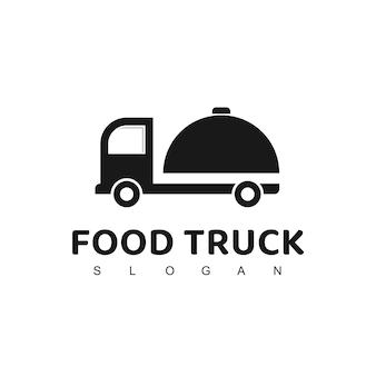 フードトラックのロゴ、配達レストラン、カフェ会社