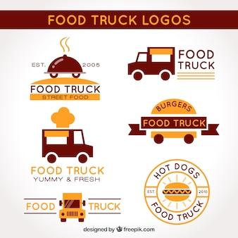 ビジネススタイルの食品トラックのロゴ