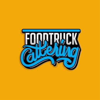 Food truck logotype