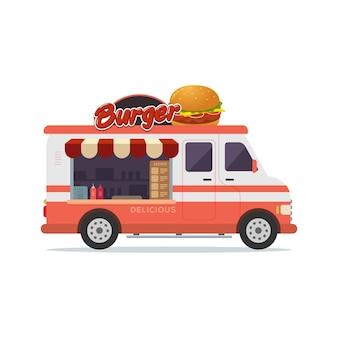 Еда грузовик автомобиль гамбургер магазин на грузовике