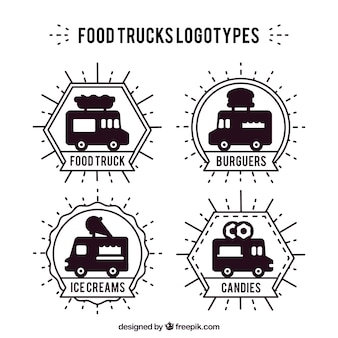Food trucks logotypes