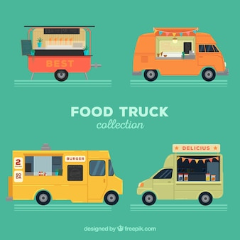 Food trucks with variety of styles