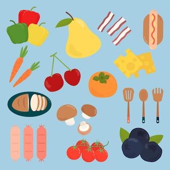 Set di varietà di cibo