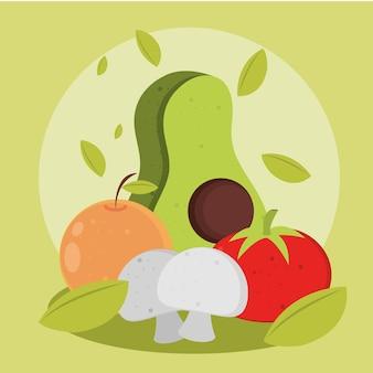 음식 야채와 과일