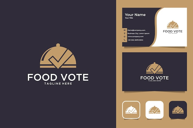 Food vote logo design and business card