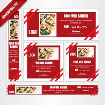 Food web banner set for restaurant