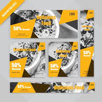 Набор веб-баннеров для еды