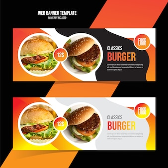 Food web banner template