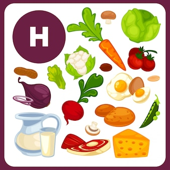 Food with vitamin h, b7