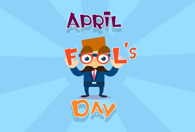 Fool day april holiday greeting card banner