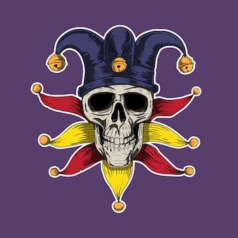 The fool skull head