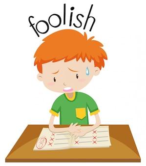 A foolish boy character