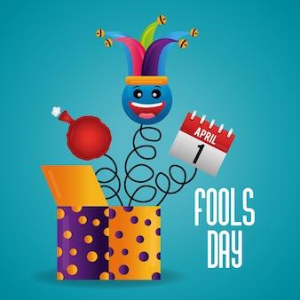 Fools day card celebration