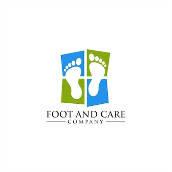 Foot and ankle care logo concept