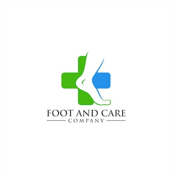 Foot care logo concept