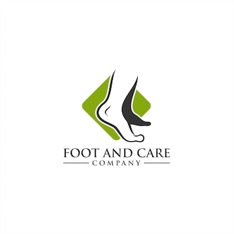 Foot and care logo concept