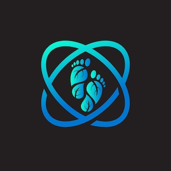 Foot medical laboratory logo